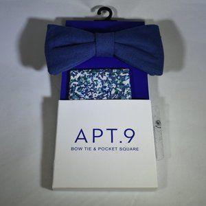 Apt. 9 NWT Bow Tie & Pocket Square Set- Navy
